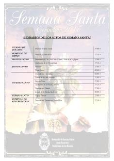 HORARIOS DE LOS ACTOS DE SEMANA SANTA-001