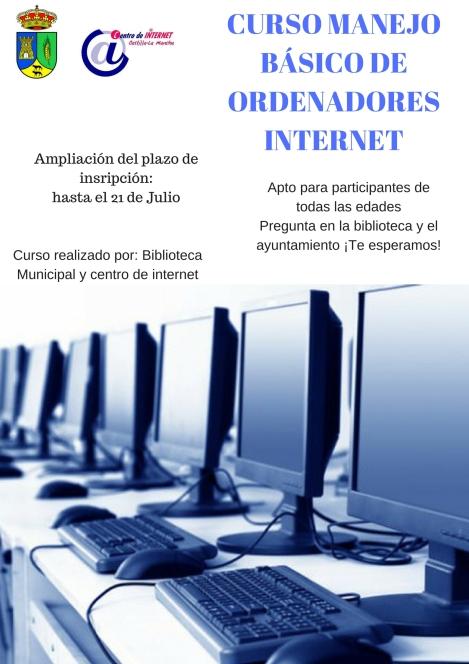 CURSO MANEJO BÁSICO DE ORDENADORES E INTERNET