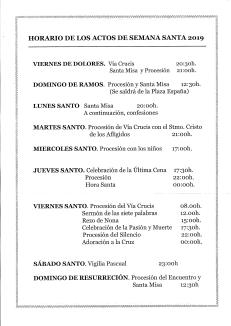 HORARIO DE LOS ACTOS DE SEMANA SANTA 2019_page-0001
